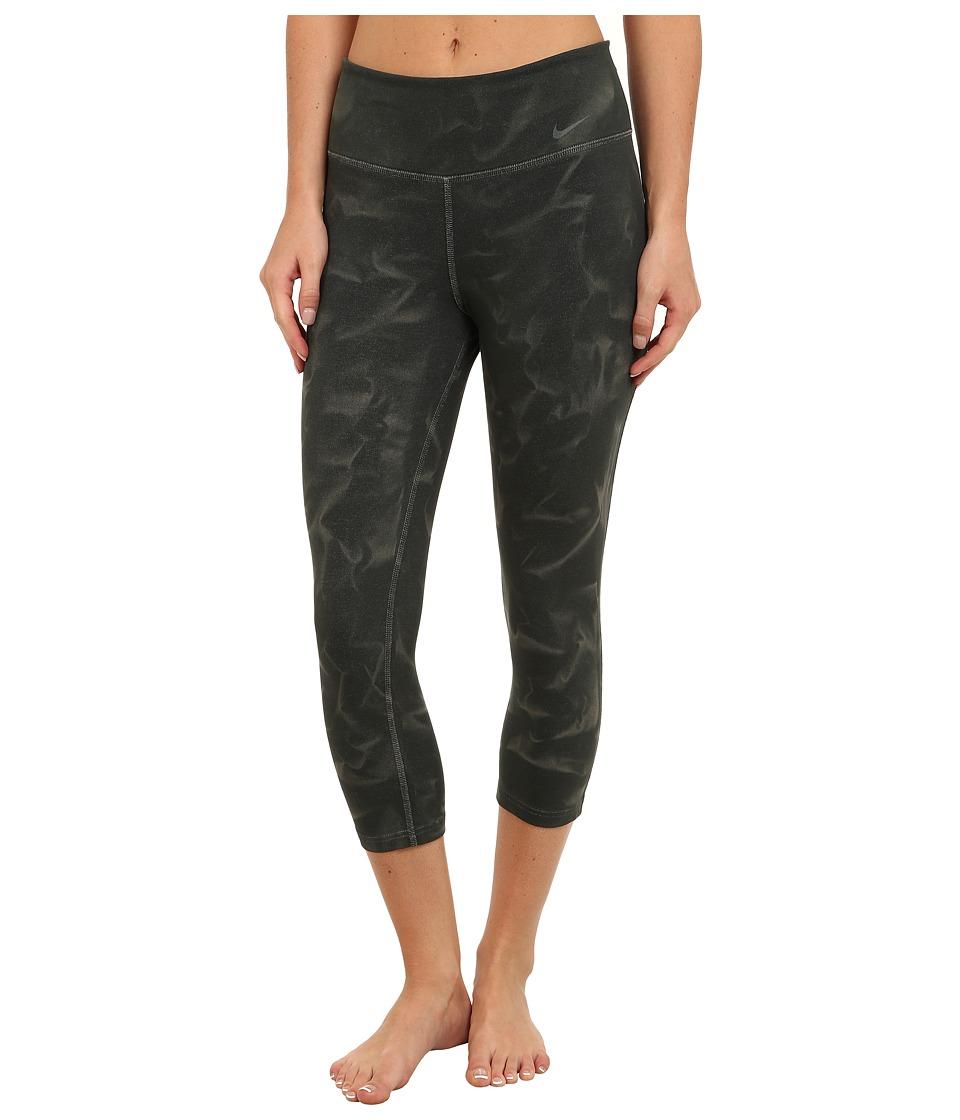Nike - Legend 2.0 Heather Dye Tight Capri (Anthracite/Anthracite) Women's Workout plus size,  plus size fashion plus size appare