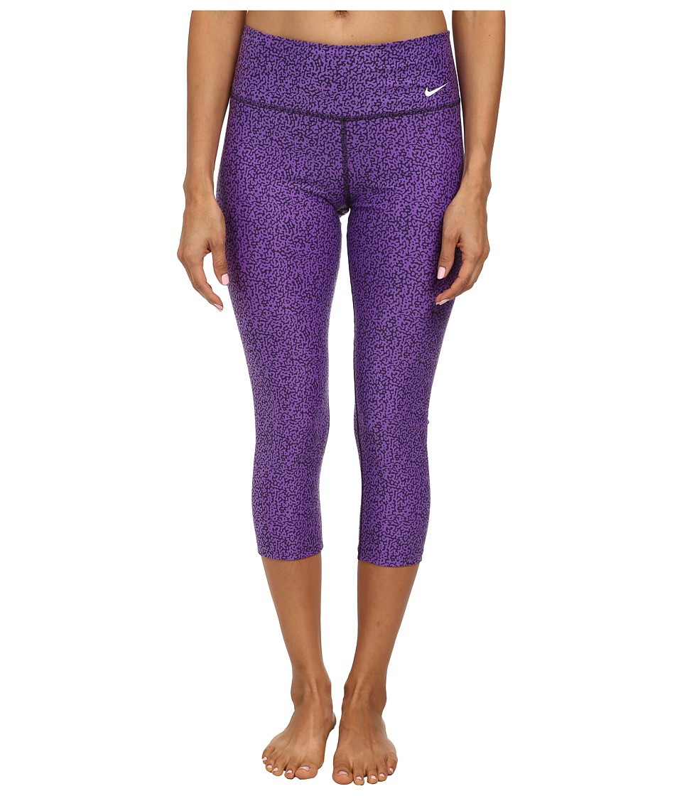 Nike - Legend 2.0 Mezzo Tight Capri (Hyper Grape/Cave Purple/Ivory) Women's Capri