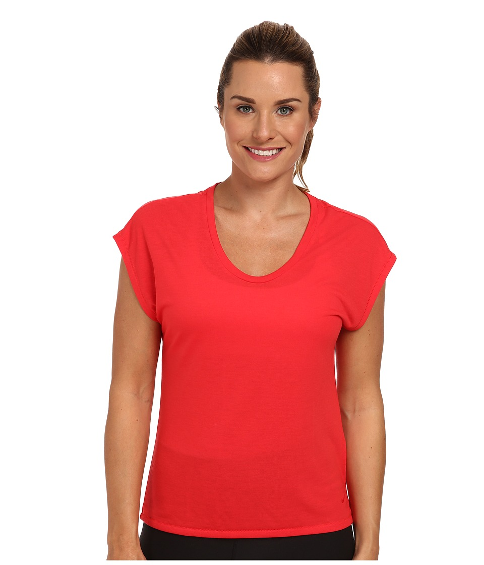 Nike - Club Boxy Tee (Action Red/Action Red) Women's Short Sleeve Pullover