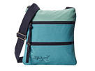 Life is good Color Block Crossbody Bag (Turquoise Blue)