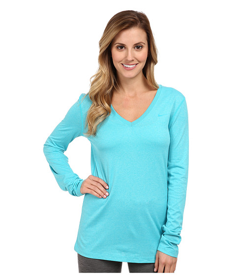 Nike - Regular Long-Sleeve Legend Tee V-Neck (Dusty Cactus/Dusty Cactus) Women