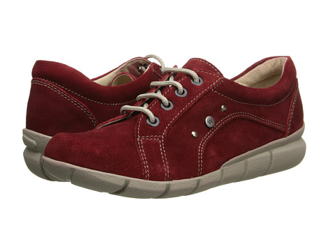 Wolky - Niobe (Oxblood Greased Suede) Women's Lace up casual Shoes