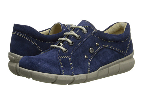 Wolky - Niobe (Blue Greased Suede) Women's Lace up casual Shoes