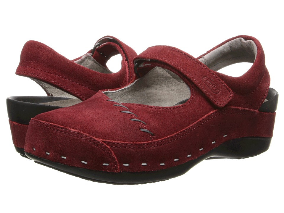 Wolky - Strap Cloggy (Oxblood Suede) Women's Clog Shoes