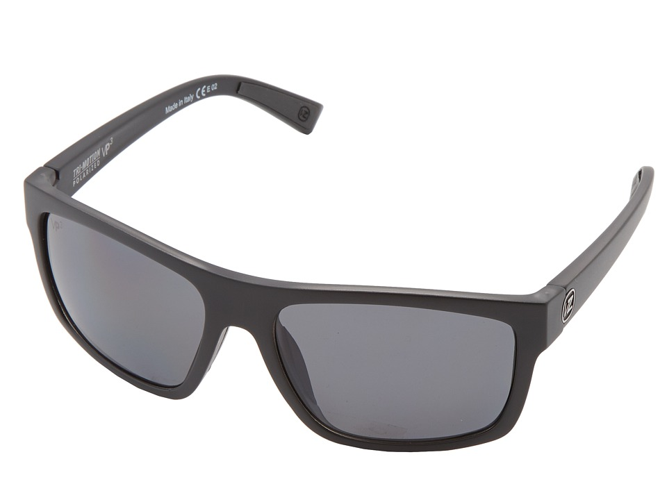 VonZipper - Speedtuck-Polarized (Black Satin/Grey Poly Polar) Sport Sunglasses