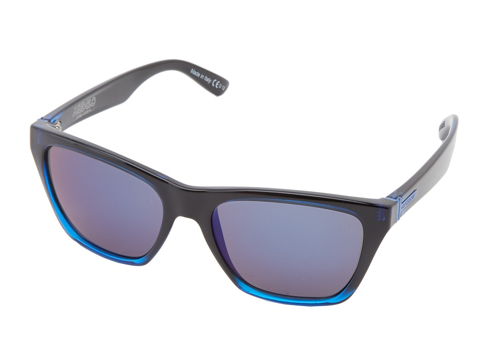 VonZipper - Booker (Black Blue/Astro Glo) Sport Sunglasses