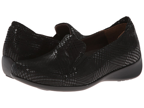 Wolky - Perls (Black Dessin Suede) Women's Slip on Shoes