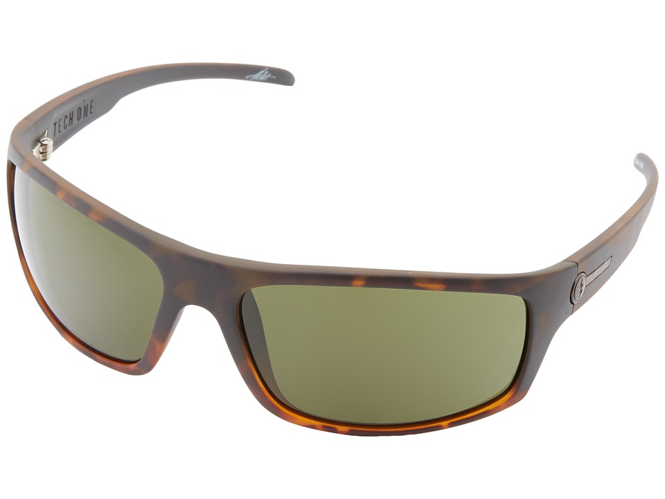 Electric Eyewear - Tech One (Black Eyed Tort/M Grey) Plastic Frame Sport Sunglasses