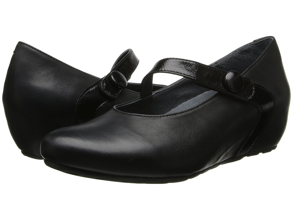 Wolky - Daphne (Black Bavaria/Midland Patent Strip) Women's Shoes