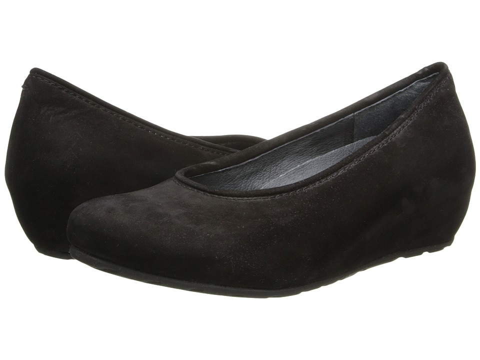 Wolky - Valentine (Black Calf Suede) Women's Wedge Shoes