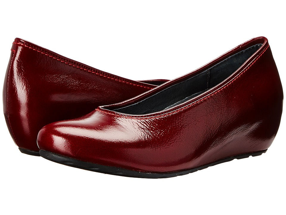 Wolky - Valentine (Bordo Midland Patent) Women's Wedge Shoes