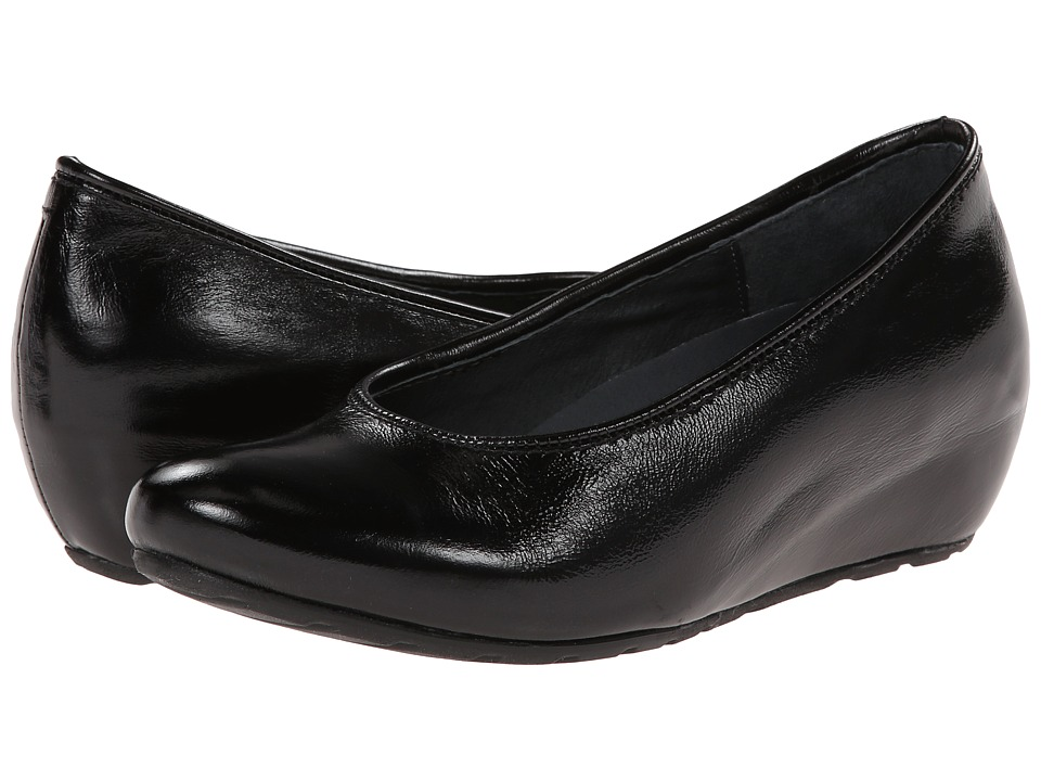 Wolky - Valentine (Black Midland Patent) Women's Wedge Shoes