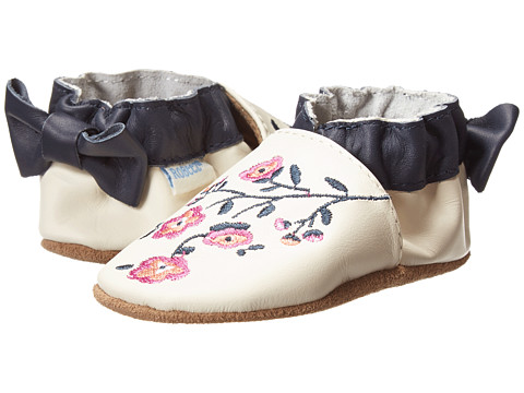 Robeez - Fancy Floral Soft Soles (Infant/Toddler) (Cream) Girls Shoes