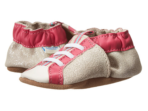 Robeez - Sparkle Play Soft Soles (Infant/Toddler) (Hot Pink) Girls Shoes