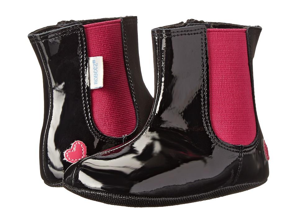 Robeez - Adelynn Mini Shoez (Infant/Toddler) (Black) Girls Shoes