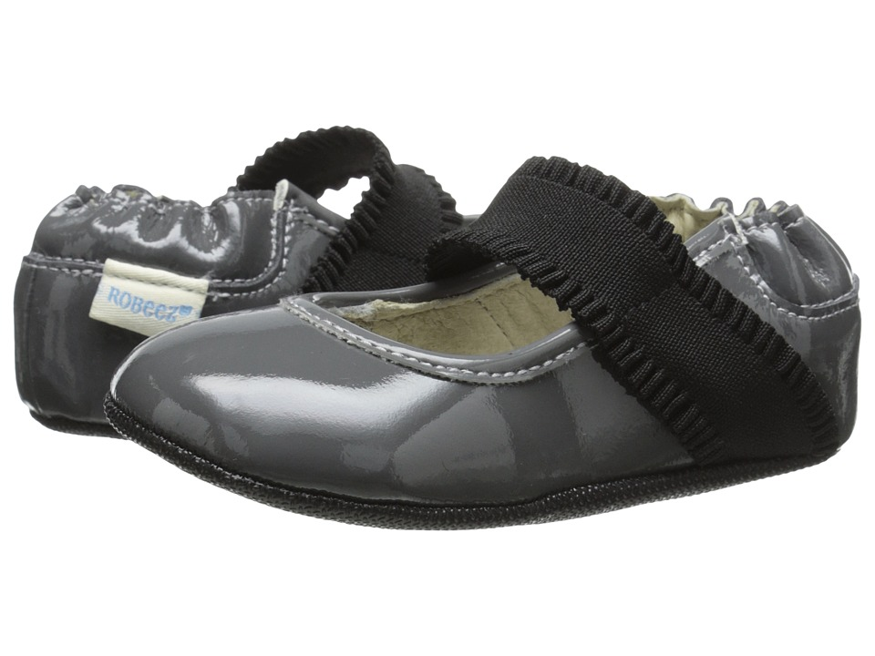 Robeez - Annie Mini Shoez (Infant/Toddler) (Cool Grey) Girls Shoes