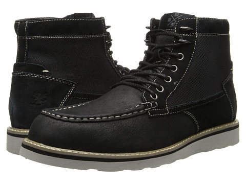 Stacy Adams - Maximus (Black Milled Leather/Suede & Mesh) Men's Lace Up Moc Toe Shoes