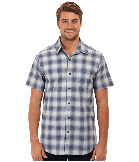 White Sierra - Happy Hour Short Sleeve Shirt (Dusk Blue) Men's Short Sleeve Button Up