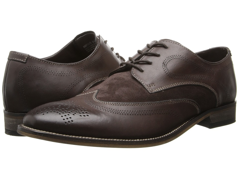 Stacy Adams - Revel (Brown Leather And Suede) Men's Lace Up Wing Tip Shoes