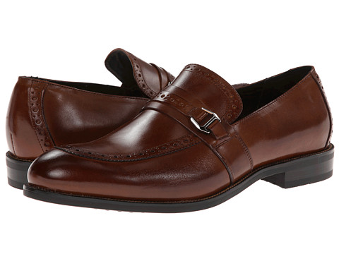 Stacy Adams - Gavin (Cognac Leather) Men's Slip on Shoes