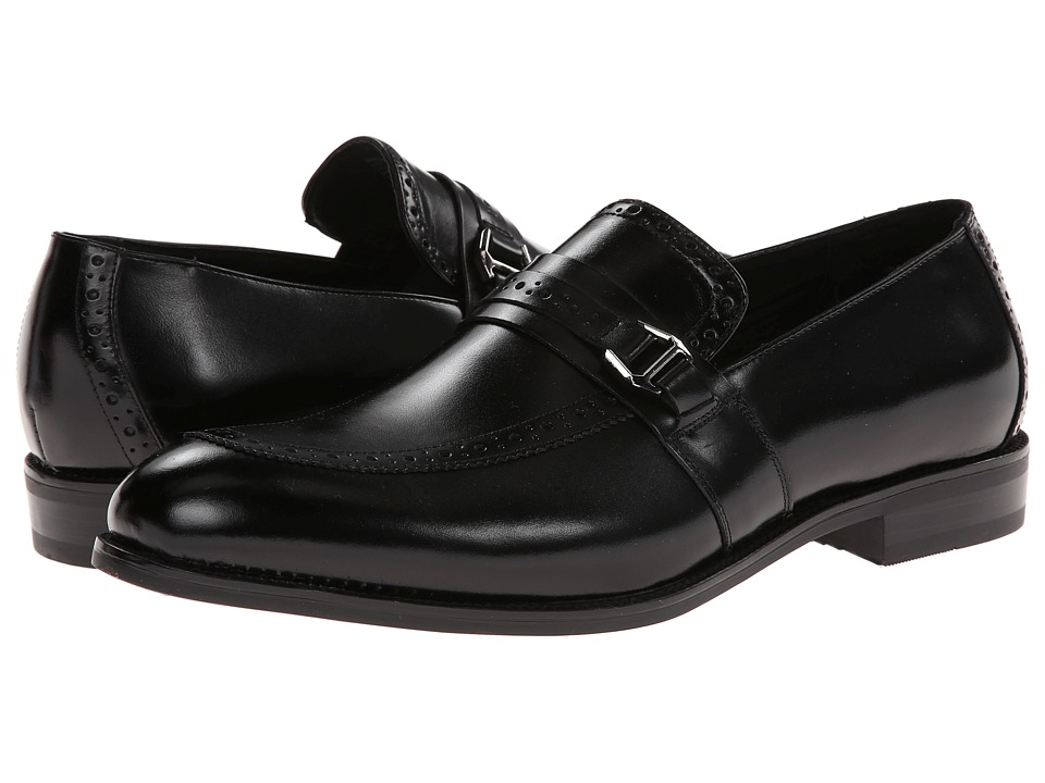 Stacy Adams - Gavin (Black Leather) Men's Slip on Shoes