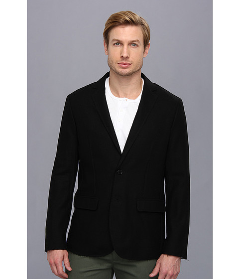 John Varvatos - Notch Lapel Blazer (Black) Men's Jacket