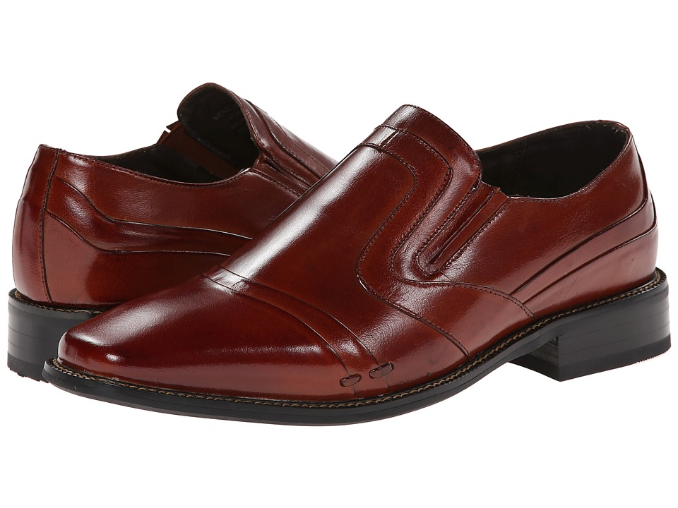 Stacy Adams - Rollinger (Cognac Buffalo Leather) Men