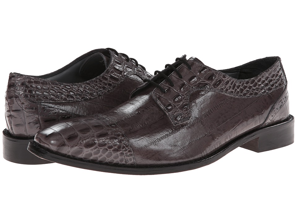 Stacy Adams - Giancarlo (Gray Hornback & Eelskin Print Leather) Men