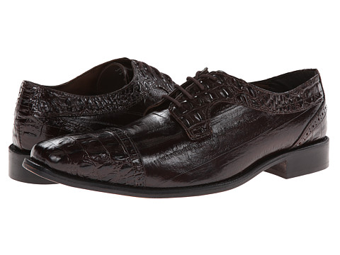 Stacy Adams - Giancarlo (Brown Hornback & Eelskin Print Leather) Men