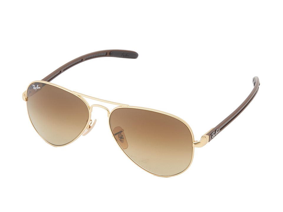 Ray-Ban - RB8307 58mm (Matte Gold) Fashion Sunglasses