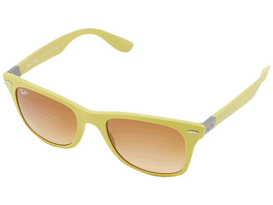 Ray-Ban - RB4195 Tech Liteforce 52mm (Metallic Yellow) Fashion Sunglasses
