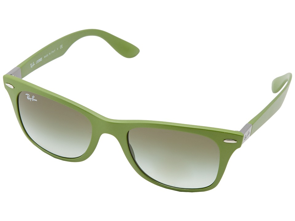 Ray-Ban - RB4195 Tech Liteforce 52mm (Metallic Green) Fashion Sunglasses