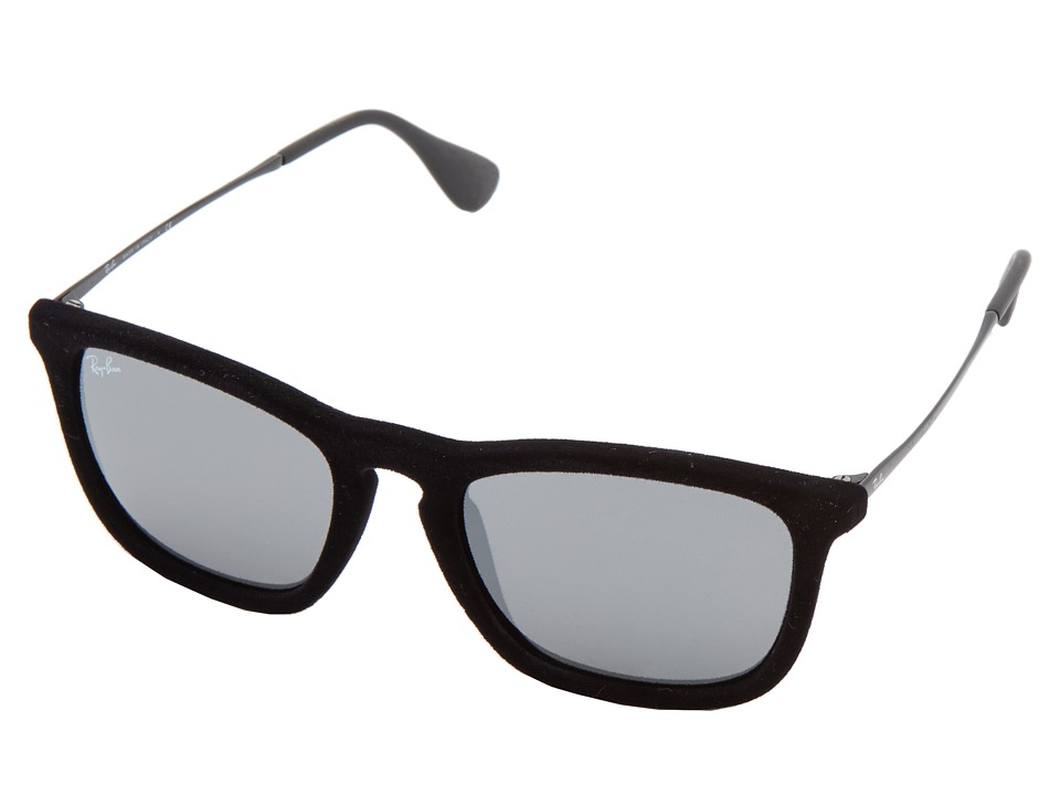 Ray-Ban - RB4187 Chris 54mm (Flock Black) Fashion Sunglasses