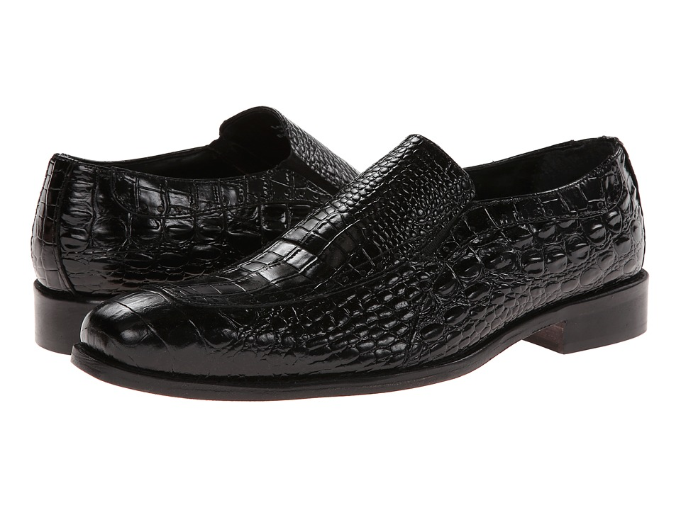 Stacy Adams - Parisi (Black Crocodile & Hornback Print Leather) Men's Shoes