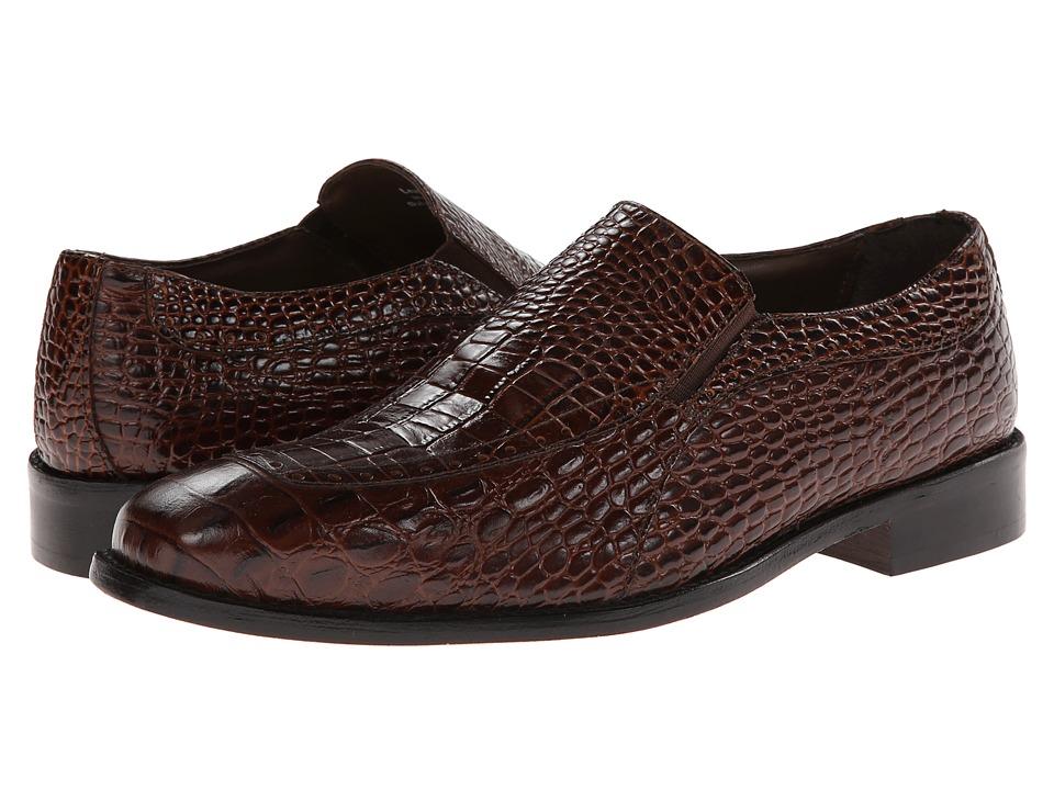 Stacy Adams - Parisi (Cognac Crocodile & Hornback Print Leather) Men's Shoes