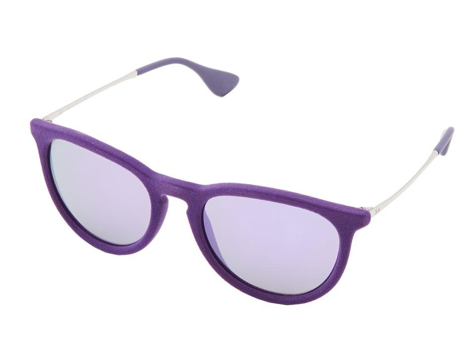 Ray-Ban - Erika (Velvet Violet) Plastic Frame Fashion Sunglasses