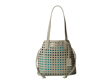 Kenneth Cole Reaction - Holed Out Medium Shopper (Dove/Lagoon) Tote Handbags