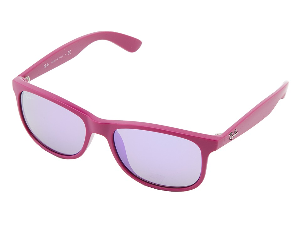 Ray-Ban - RB4202 Andy 55mm (Matte Violet On Shiny Violet) Fashion Sunglasses