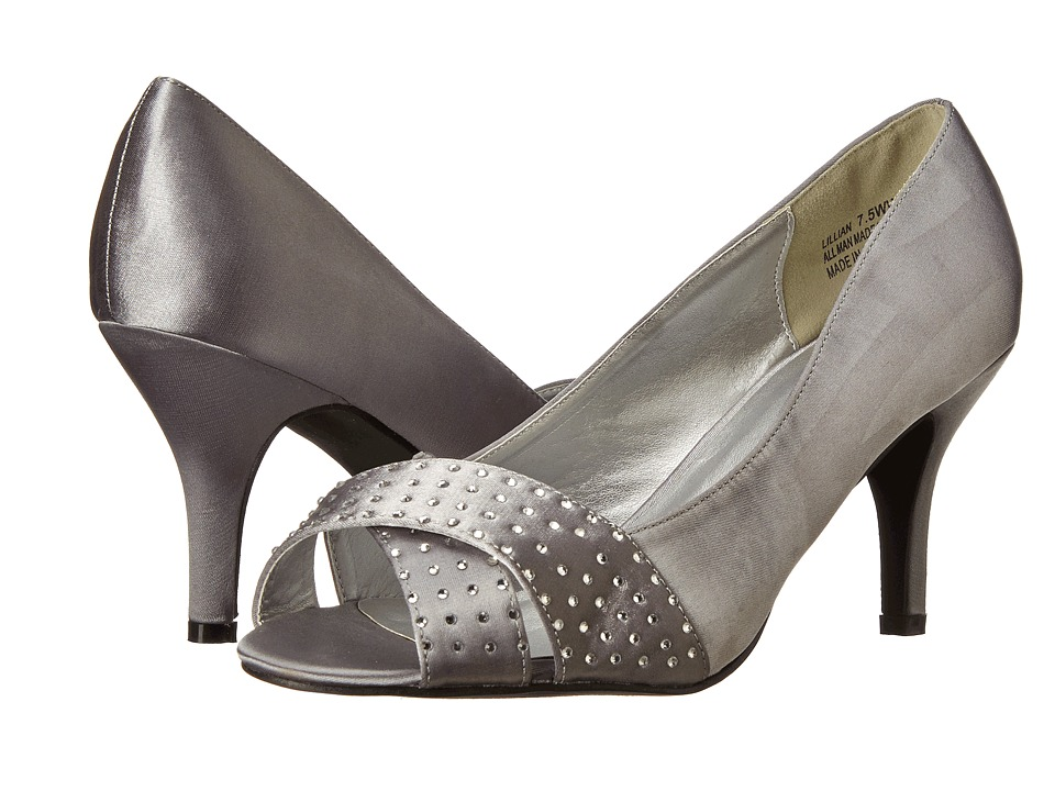 Annie - Lillian (Silver Satin) Women's Shoes