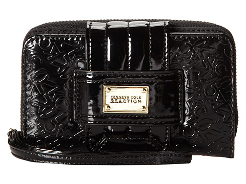 Kenneth Cole Reaction - Dress to Impress PDA Tab Wristlet (Black) Wristlet Handbags