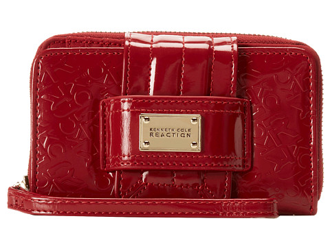 Kenneth Cole Reaction - Dress to Impress PDA Tab Wristlet (Garnet) Wristlet Handbags