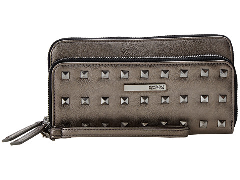 Kenneth Cole Reaction - Zip Code Double Zip Around (Golden Bronze) Clutch Handbags