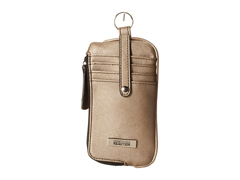 Kenneth Cole Reaction - Must Haves Tab Key Ring Pouch (Golden Bronze) Wallet Handbags