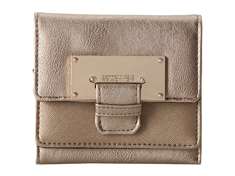 Kenneth Cole Reaction - Metal Head Double Flap Indexer (Golden Bronze) Wallet Handbags