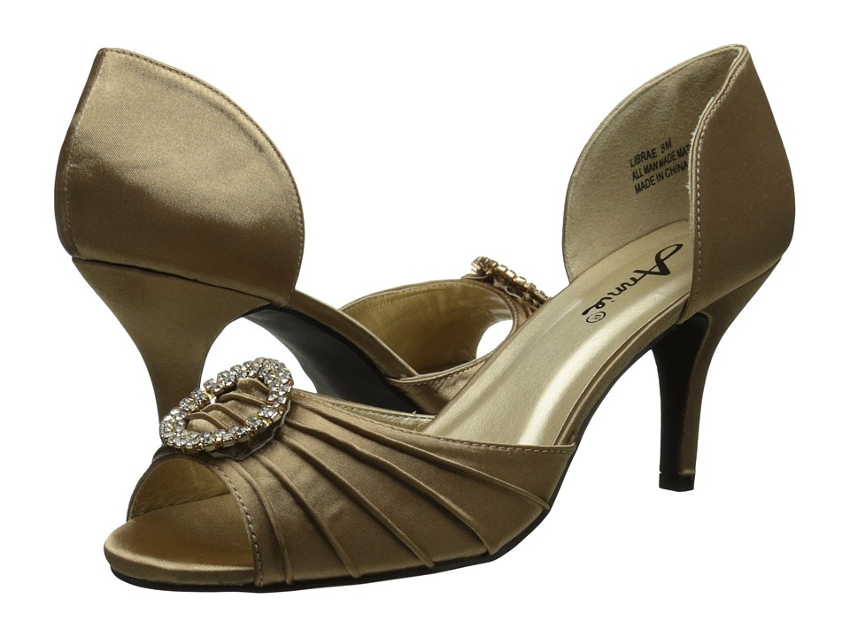Annie - Librae (Warm Taupe Satin) Women