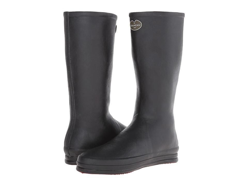 Le Chameau - Cabourg (Black/Carmine Red) Women's Boots