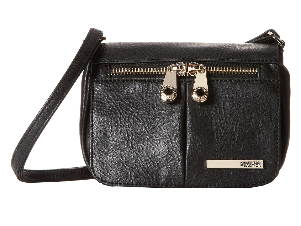 Kenneth Cole Reaction - Wooster Street Small Flap Crossbody (Black) Cross Body Handbags