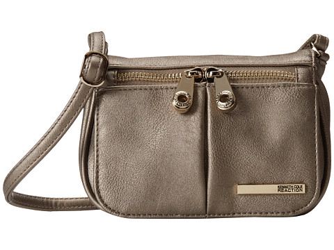Kenneth Cole Reaction - Wooster Street Small Flap Crossbody (Golden Bronze) Cross Body Handbags