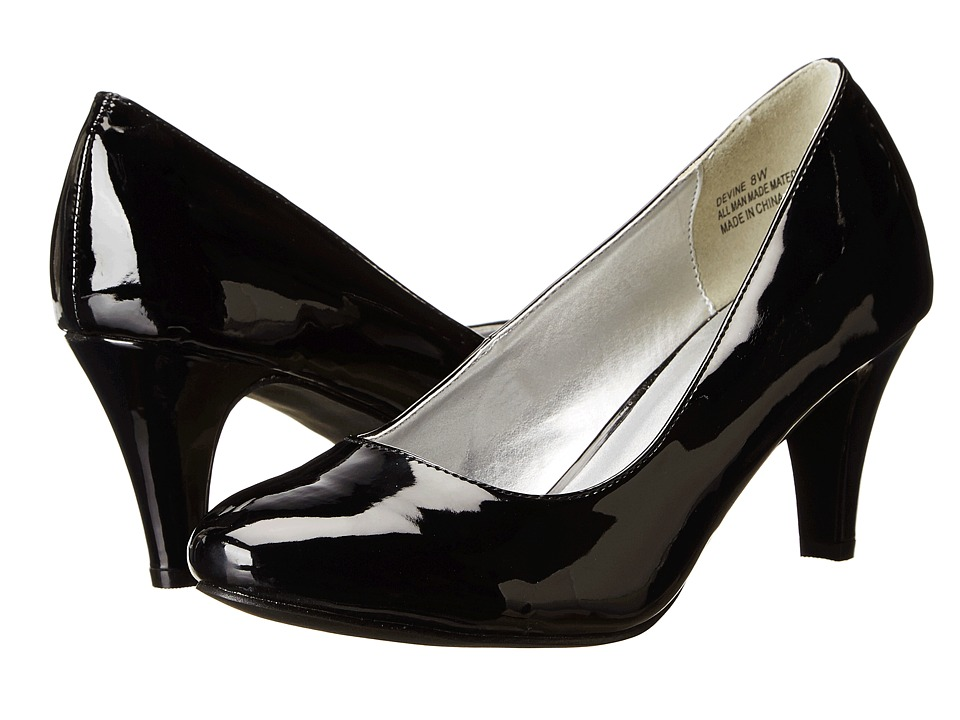 Annie - Devine (Black Patent Kid PU) High Heels