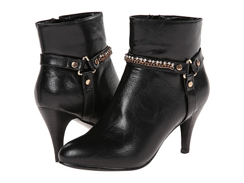 Annie - Sleek (Black Polished Calf PU) Women